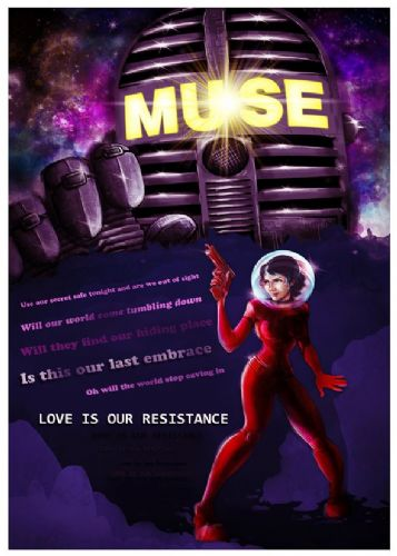 MUSE - RESISTANCE canvas print - self adhesive poster - photo print